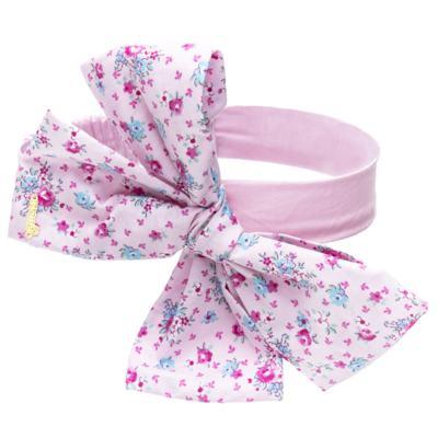 Imagem 2 do produto Pack: 2 Faixas Maxi Laço em tricoline Pink/Floral - Roana