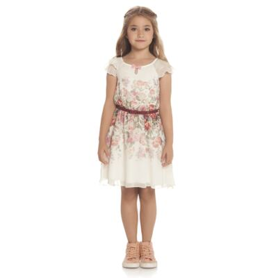 Imagem 2 do produto Vestido em chifon Camelli - Charpey - CY14746.138 VESTIDO OFF WHITE-1