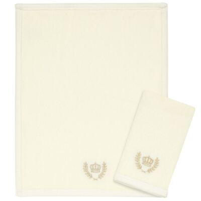 Imagem 1 do produto Kit com 2 fraldas de boca para bebe atoalhadas Coroinha Marfim - Classic for Baby