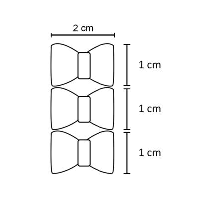 Imagem 2 do produto Kit: 3 Laços c/ velcro Rosa - Roana