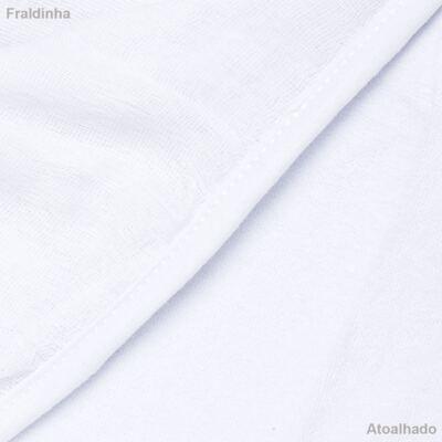 Imagem 3 do produto Toalha com capuz Coroinha Branca - Classic for Baby