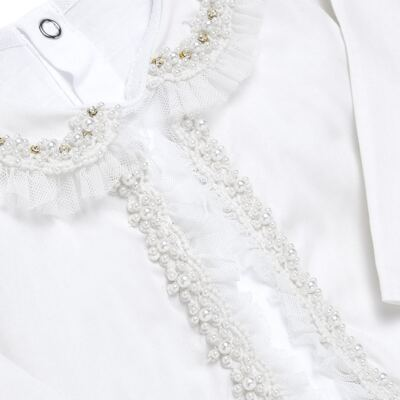 Imagem 3 do produto Conjunto Pagão Yasmine: Casaqueto em tricoline + Body longo + Calça - Roana