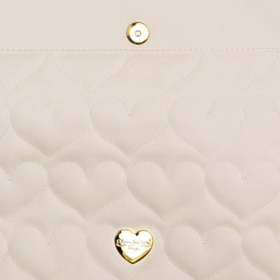 Imagem 4 do produto Trocador Portátil para bebe Corações Matelassê Caqui - Classic for Baby Bags