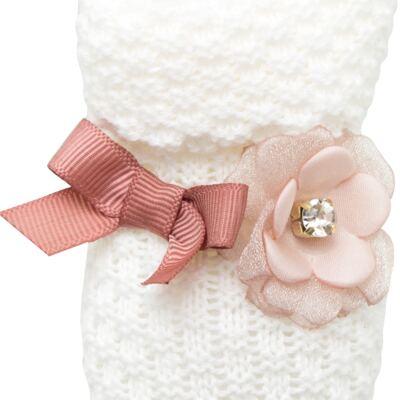 Imagem 2 do produto Botinha em tricot Laço & Flor Rosa Seco - Roana