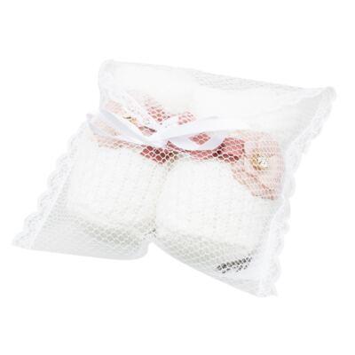 Imagem 3 do produto Botinha em tricot Laço & Flor Rosa Seco - Roana