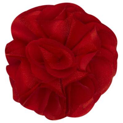 Imagem 1 do produto Presilha em cetim Maxi Flor Vermelha - Roana