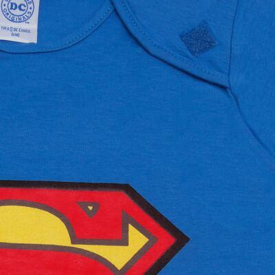 Imagem 3 do produto Fantasia Superman: Macacão longo com Capa em malha Stica Stica - Get Baby - 211063 MACACAO TODDLER LONGO M/L-1
