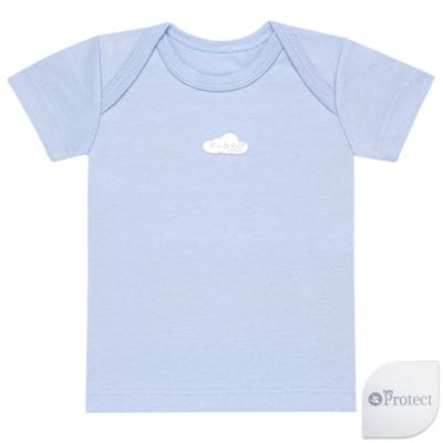 Imagem 1 do produto Camiseta manga curta em suedine Baby Protect Azul - Mini & Kids - CMTC1735 CAMISETA TRANSP. MC SUEDINE AZUL-P