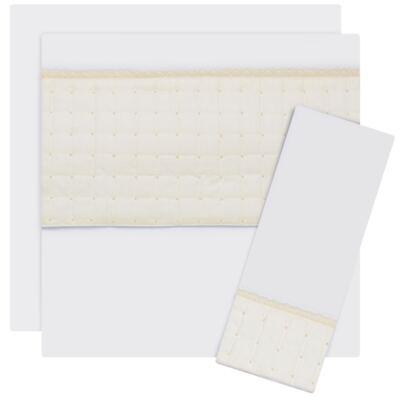 Imagem 1 do produto Jogo de lençol para berço em malha Matelassê & Pérolas Marfim - Roana