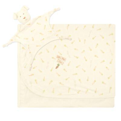 Imagem 1 do produto Manta forrada em malha com Naninha Mon Petit Rabbit - Classic for Baby