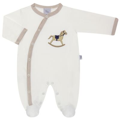 Imagem 1 do produto Macacão longo para bebe em suedine Little Horse - Anjos Baby - AB1658029 MACACAO LONGO LISO MASC -RN