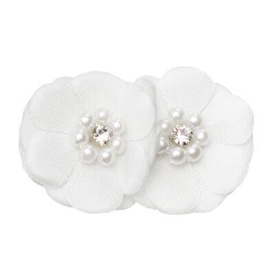 Imagem 1 do produto Presilha Flor & Pérolas Branca - Roana