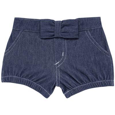 Imagem 1 do produto Short c/ Laço para bebe em fleece Basic Denim - Mini & Kids - SLB1632 SHORTS C/ LAÇO FLEECE FAZENDA-VERDE-G
