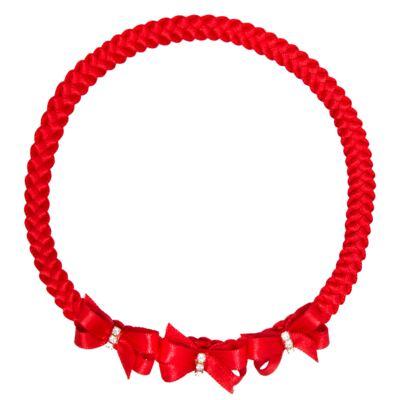 Imagem 1 do produto Faixa de cabelo trançada Lacinhos & Strass Vermelha - Roana