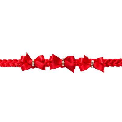 Imagem 2 do produto Faixa de cabelo trançada Lacinhos & Strass Vermelha - Roana