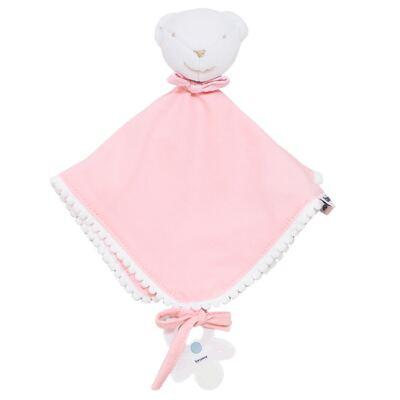 Imagem 1 do produto Naninha para bebe em malha Ursinha Rosa - Biramar Baby