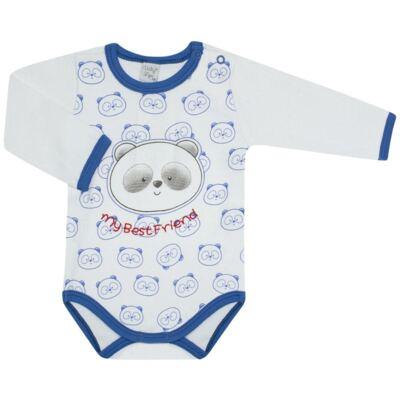 Imagem 1 do produto Body longo para bebe em suedine Urso Panda - VickyLipe - BL248 BODY ML SUEDINE URSO PANDA-RN