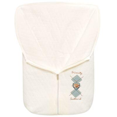 Imagem 1 do produto Saco de dormir para bebe em suedine matelassado Argyle Bear - Baby Classic