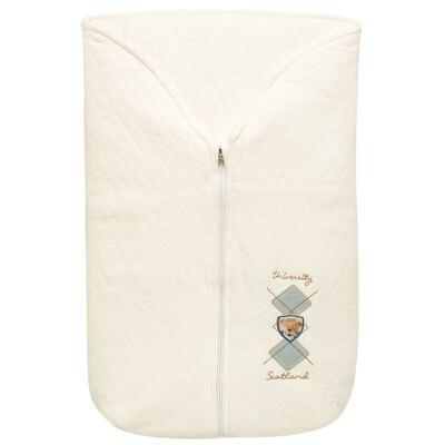 Imagem 2 do produto Saco de dormir para bebe em suedine matelassado Argyle Bear - Baby Classic