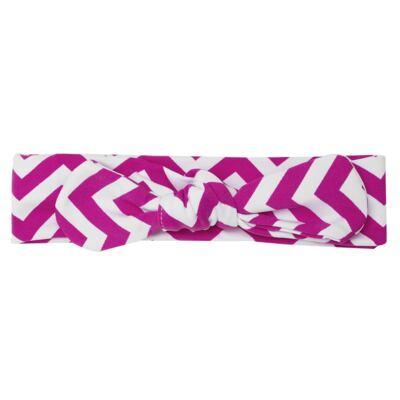 Imagem 3 do produto Legging c/ Faixa de cabelo para bebe em lycra Chevron Pink - Letiti - LTT03 LEGGING FAIXA LUMA PINK-GG
