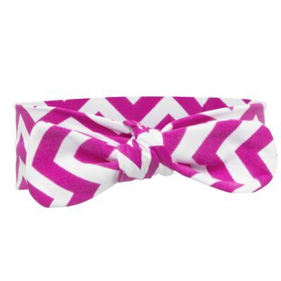 Imagem 4 do produto Legging c/ Faixa de cabelo para bebe em lycra Chevron Pink - Letiti - LTT03 LEGGING FAIXA LUMA PINK-GG
