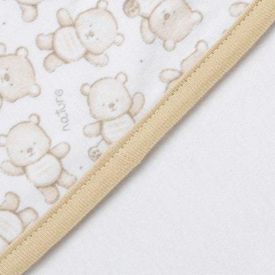 Imagem 3 do produto Manta para bebe em algodão egípcio c/ jato de cerâmica Nature Little Friends - Mini & Classic