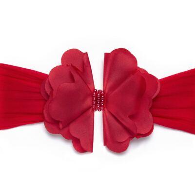 Imagem 1 do produto Faixa meia Maxi Flor Pérolas Vermelha - Roana