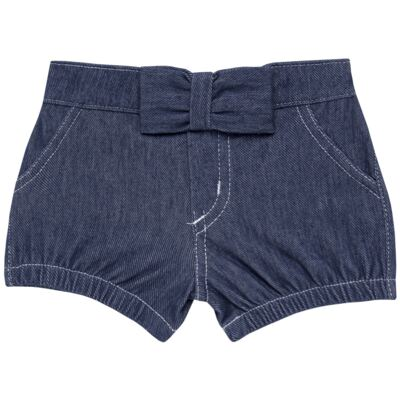Short c/ Laço para bebe em fleece Basic Denim - Mini & Kids - SLB1632 SHORTS C/ LAÇO FLEECE FAZENDA-VERDE-P