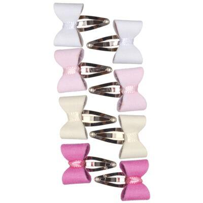 Imagem 1 do produto Kit 6 Mini Tic Tac Laço Rosa/Pink/Branco/Marfim - Roana