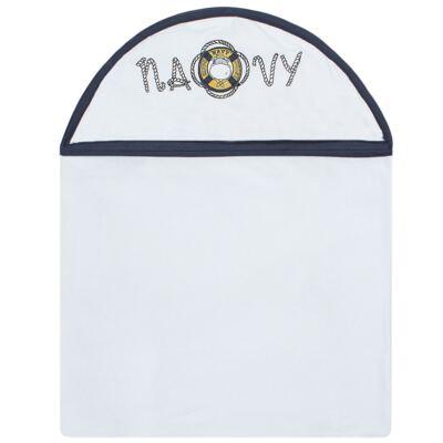 Imagem 1 do produto Toalha Max com capuz atoalhado Hippo Sailor - Classic for Baby