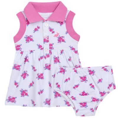 Imagem 1 do produto Vestido Polo com Calcinha para bebe em piquet Mimme - Missfloor - 18BC0001.505 BATA POLO REGATA C/ CALCINHA - PIQUET-2