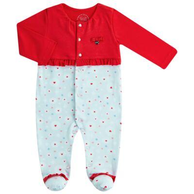 Imagem 1 do produto Macacão Casaqueto para bebe em algodão egípcio c/ jato de cerâmica e filtro solar fps 50 Sweet Love - Mini & Kids
