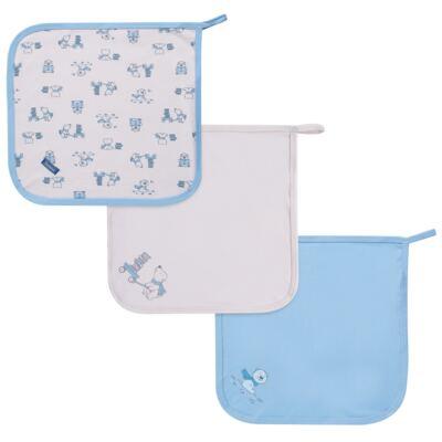 Imagem 1 do produto Kit com 3 fraldinhas de boca para bebe em malha Smart Bear - Dedeka