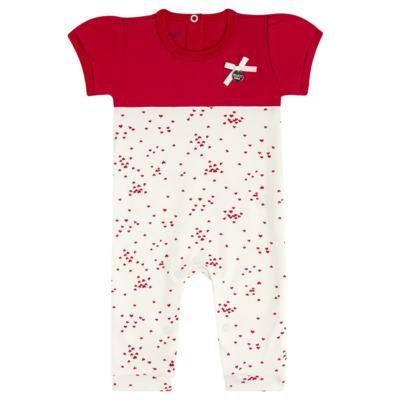 Imagem 1 do produto Macacão curto para bebe em suedine Love Puppy - Vicky Baby - 2152-4253 MACACAO MC MG CURTA REC. DOGS-M