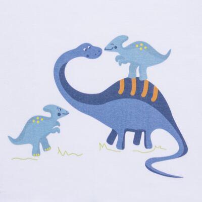Imagem 3 do produto Pijama curto para bebe em suedine Dino - Dedeka - DDK17123/L44 Pijama Ribana Azul Sereno-P