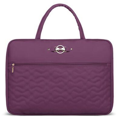Imagem 1 do produto Mala maternidade para bebe Laços Matelassê Uva - Classic for Baby Bags