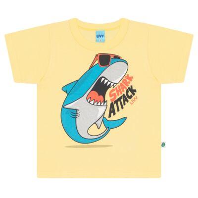 Imagem 2 do produto Camiseta amarela com Bermuda tactel Tutubarão - Livy