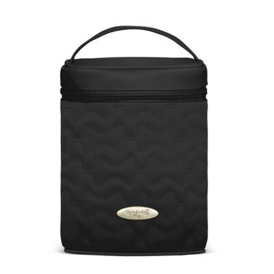 Imagem 1 do produto Bolsa Térmica para bebe Firenze Laços Matelassê Preta - Classic for Baby Bags