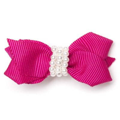 Imagem 1 do produto Presilha Laco Pérolas Pink - Roana