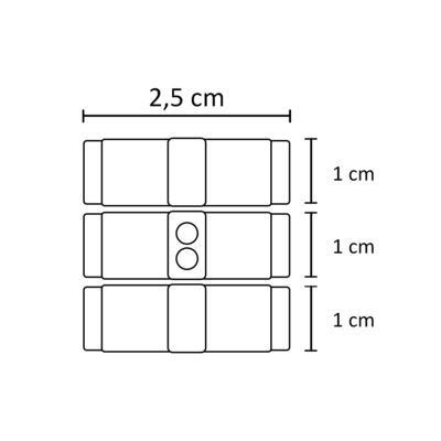 Imagem 2 do produto Kit: 3 Laços velcro em gorgurão Rosa/Branco/Marfim - Roana