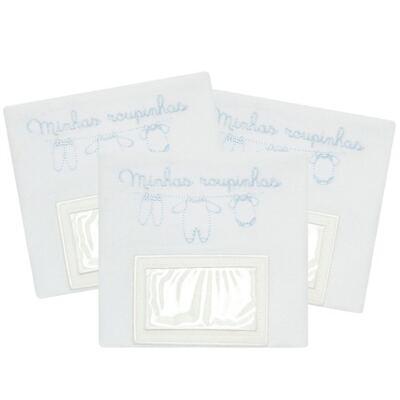 Imagem 1 do produto Kit 3 Saquinhos para maternidade Minhas Roupinhas Azul - Classic for Baby