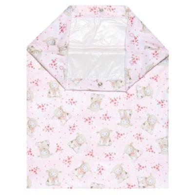 Imagem 1 do produto Saco para roupa suja em atoalhado Ovelhinha Rosa - Petit