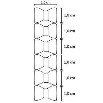 Imagem 2 do produto Kit: 6 Laços adesivos em renda & strass Rosa/Branco/Marfim - Roana
