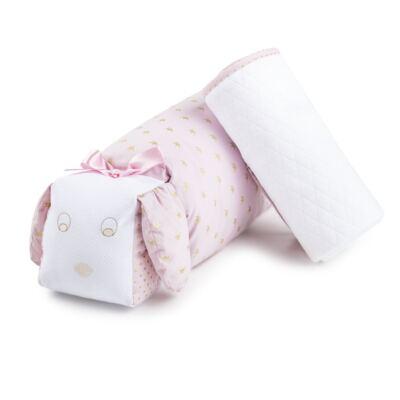 Imagem 1 do produto Kit: Travesseiro + Manta em malha Coroa Rosa - Just Baby