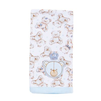 Imagem 3 do produto Kit com 2 fraldinhas de boca para bebe em algodão egípcio c/ jato de cerâmica  Prince Bear - Classic for Baby