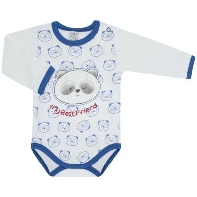 Imagem 1 do produto Body longo para bebe em suedine Urso Panda - VickyLipe - BL248 BODY ML SUEDINE URSO PANDA-M