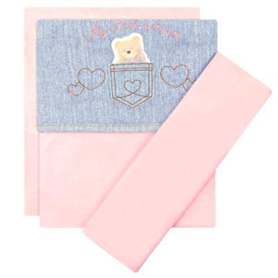 Imagem 1 do produto Jogo de lençol para carrinho em malha My First Denim Girl - Classic for Baby