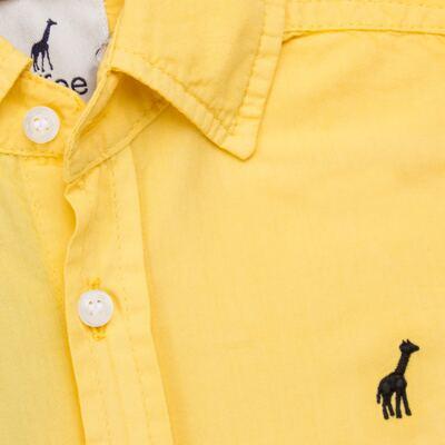 Imagem 2 do produto Camisa para bebe em tricoline Amarela - Toffee