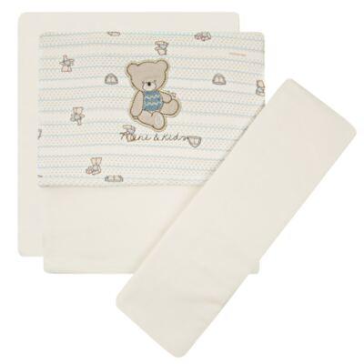 Imagem 1 do produto Jogo de lençol para carrinho em malha Cute Blue Bear - Classic for Baby