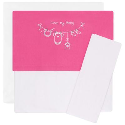 Imagem 1 do produto Jogo de lençol para berço em malha Clothes Girl - Classic for Baby